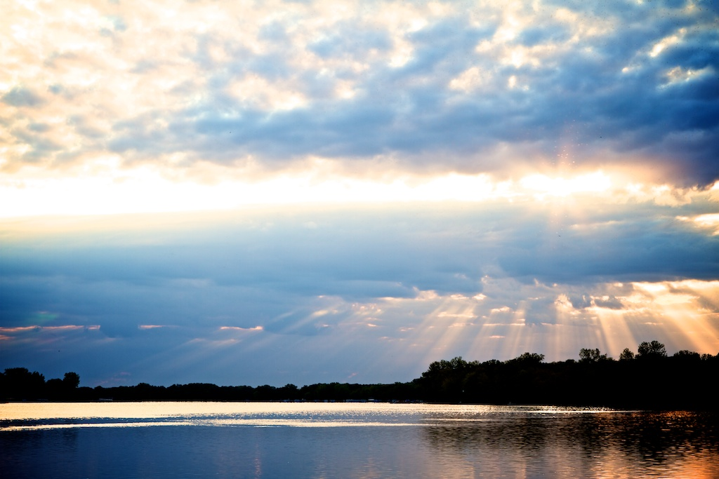 Lake Koshkonong and Sun's rays